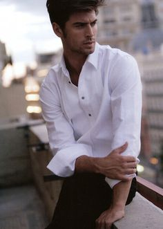 A beautiful man in a beautiful white shirt - Mr Ferran Calderon