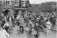 Bikes at Amagerbrogade in Copenhagen (May 1945)