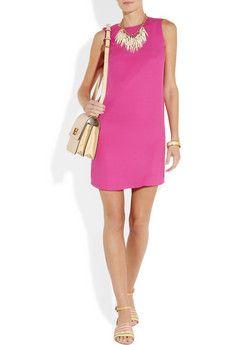 Vincesilk-georgette shift dress. $395