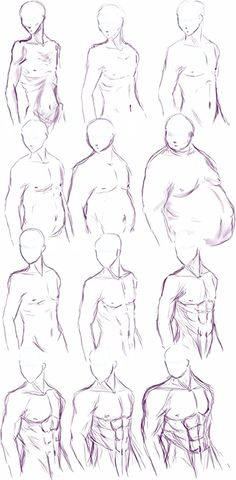 Body Type study by Himwath.deviantart.com on @deviantART [ #body #bodytypes #uniqueness #characterdesign #ref ] Guy Drawing, Drawing Poses, Drawing People, Drawing Ideas, Drawing Faces For Beginners, Face Angles, Face Proportions, Anime Makeup, New Era Fitted