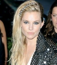 Sienna Miller looks gorgeous! Love the headband - Punked-Up Beauty Looks