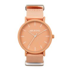 Boho peach watch with textile strap. Michael Kors Watch, Peach, Watches, Unisex, Boho, Retro, Accessories, Fashion, Moda