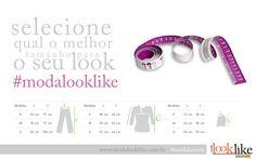 Card Facebook #MedidaCerta para a loja virtual Moda Look Like. Acesse a página no Facebook http://www.facebook.com/modalooklike