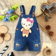Baby Girls Kitty Overalls #kids #urbanstreetwear #urbanclothes #hipster #ootd #outfit #outfitoftheday #outfitinspiration #brand #boutique #outfitgrid #streetbeast #minimalism #streetfashion #highsnobiety #contemporary #dtla #gq #yeezy #losangeles #style #simplefits  #pinfashion  #pinterestfashion #overall