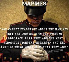 Dedicated to Marines everywhere! Marine Corps Quotes, Marine Corps Humor, Usmc Quotes, Us Marine Corps, Marine Mom Quotes, Qoutes, Military Quotes, Military Humor, Military Life