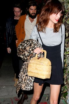 Alexa Chung, Cam Avery and Nick Grimshaw at Chateau Marmont in West Hollywood, California on 8 April 2014.