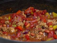 Jamie's Award-Winning Chili Recipe : Jamie Deen : Food Network - FoodNetwork.com - Simmering on the stove right now for Halloween night.