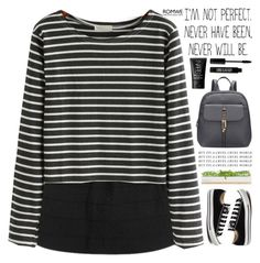 """Romwe 1"" by scarlett-morwenna ❤ liked on Polyvore featuring Converse, Bambeco, Lord & Berry, NARS Cosmetics, women's clothing, women, female, woman, misses and juniors"