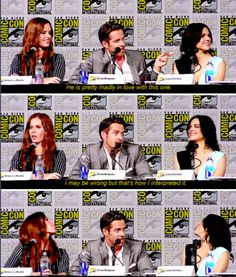 Sean, Rebecca and Lana Best Comic Con ever! Lana and Rebecca are totally like sisters!!