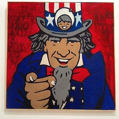 uncle sam mixed media on canvas