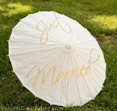 diy painted wedding parasol umbrella instructions