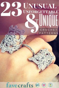 23 Unusual, Unforgettable, and Unique Crochet Patterns   FaveCrafts.com