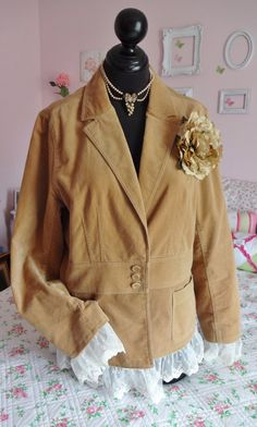 Plus Size XXL Corduroy Jacket upcycled with by annmariesisters3, $35.00