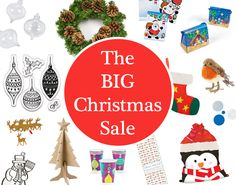 Shop the BIG Christmas Sale and stock up on any last minute festive craft and party supplies! Christmas Crafts For Adults, Christmas Sale, Crafts For Kids, Diy Crafts, Party Supplies, Craft Supplies, Festive Crafts, Party Tableware, Craft Sale