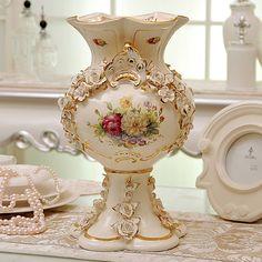 Moda bancada vaso decoração cerâmica de luxo real rústico flores em Vasos de Casa & jardim no AliExpress.com | Alibaba Group