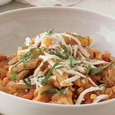 Mexican-Style Chicken with Penne! Yummy! #pasta #pastalovers #foodporn #delish
