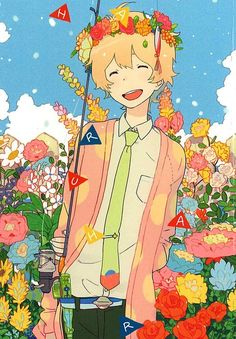 """Tsuritama ~~ Fanart of Haru that reminds me of Shiemi and Nee from """"Blue Exorcist"""""""