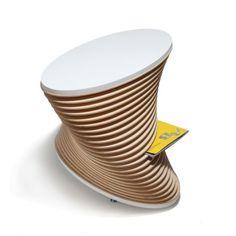 KLIFF / biały / stolik kawowy z gazetnikiem 1290