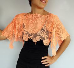 Black Lace Shrug Bridal Shoulder Wrap. Lightweight. by mammamiaeme, $33.00