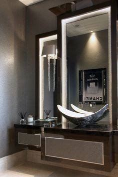 Cloakroom with bespoke Hill House vanity unit with Mother of Pearl sink © Hill House Interiors Upstairs Bathrooms, Large Bathrooms, Amazing Bathrooms, Small Bathroom, Luxurious Bathrooms, Guest Toilet, Modern Master Bathroom, Vanity Design, Toilet Design