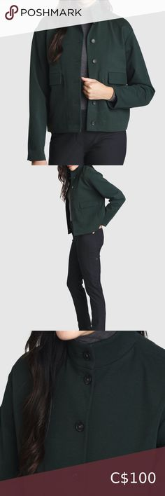 Kit and Ace Mulberry Jacket Hunter Green Size 6 Inspired by blending utility style and function with chic minimalism, this piece replaces all those stiff blazers. Use as a mid-layer under water-repellent jackets, or on its own on drier days. key features: - Dual entry pockets from the front and the side - Ruched back hemline keeps cold air out - 45% Tencel®Lyocell, 40% Nylon, 9% Spandex, 6% Cashmere Like new. Kit and Ace Jackets & Coats Minimal Chic, Plus Fashion, Fashion Tips, Fashion Trends, Hunter Green, Hemline, Minimalism, Blazers, Cashmere