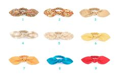 1pcs Bow Ponytail Holders NEW colors by kokokoshop on Etsy
