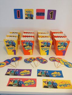 The Wiggles Birthday Party Decorations with free printable images - PintoPin Wiggles Cake, Wiggles Party, Wiggles Birthday, The Wiggles, First Birthday Parties, Birthday Party Decorations, First Birthdays, Birthday Ideas, 3rd Birthday