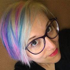 Wannabe a #unicorn #pixiecut #pixiehaircut #unicornhair #girl #newlook #haircolor #love #spring #happy #elumen #goldwell #love #inlove #dayoff #relax #sunnyday #likeforlike #like4like #followme #follow4follow #followforfollow  @erika_spaziocapelli is the #artist