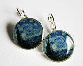 Van Gogh Automat Art History Earrings. $18.00, via Etsy.