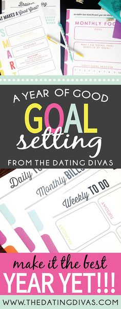 I am in LOVE with this Year of Goals Printable pack! These are some awesome ideas to make 2015 rock from www.TheDatingDivas.com.