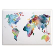 Trademark art urban watercolor world map matted framed art by canvas magnet map of the world gumiabroncs Gallery