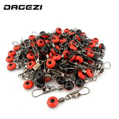DAGEZI 50Pcs/lot Space Beans Fishing Connector Float Connector Rolling Swivel Fishing accessories  Fishing Tackle Tool