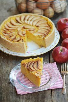 Flan pâtissier aux pommes, vanille