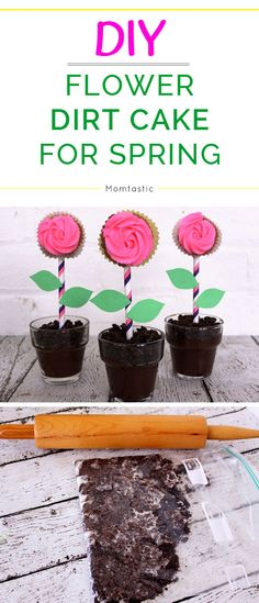 DIY Flower pot dirt cake recipe for spring