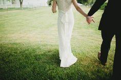 Traverse City Wedding Photographers. Michigan barn wedding. Claire Pettibone dress. Outdoor ceremony. Unplugged wedding.