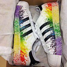 san francisco cff2c e3e32 Adidas Originals D70351 Mens Superstar LGBT Pride Pack 2015 Rainbow  Splatter Adidas Rainbow Shoes