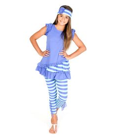 Look at this #zulilyfind! Blue Timeless Top & Leggings - Infant, Toddler & Girls #zulilyfinds