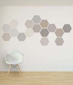 Items similar to Removable Honeycomb Wall Decal, 8 Hexagon Stickers per pack, Self Adhesive Canvas Art Sticker, Geometric Design on Etsy Bedroom Wall Designs, Hallway Designs, Bedroom Decor, Wall Decor, Interior Decorating, Interior Design, Geometric Wall, Textured Walls, Honeycomb Shape