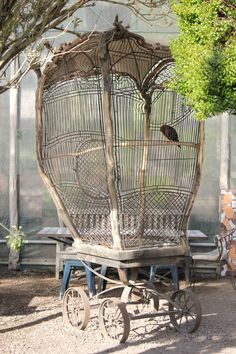 Bird cage by floral artist/sculptor Tage Andersen, at Gunillaberg (her summer home in Sweden).