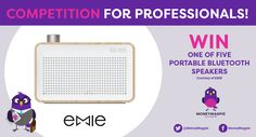 We're offering not one, not two... but FIVE lucky readers the chance to win a handy wireless, portable Bluetooth speaker from EMIE.com