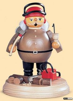 Smoker Lumberjack with saw - 18 cm / 7 inches $71.00 plus shipping