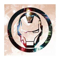 iCanvas Ironman Symbol by Marvel Comics Graphic Art on Canvas