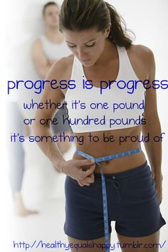 Or whether it's 1 inch or 10 inches.  Take your measurements!  They are a much better way to gauge your progress.