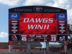 Doing it DAWG style! GO DAWGS