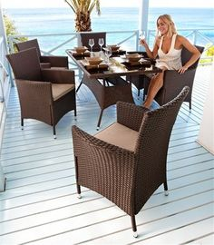 Dining-Set »Florida« in braun (13-tlg.) im Online Shop von Ackermann Versand Shops, Florida, Outdoor Furniture Sets, Outdoor Decor, Dining Set, Shopping, Home Decor, Get Tan, Dinning Set