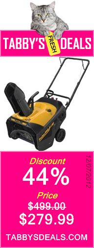 Poulan Pro PR621 21-Inch 208cc LCT Gas Powered Single Stage Snow Thrower $279.99