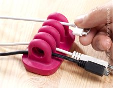 Cordies - Keep Cables on the Table. Our office desk needs this!!