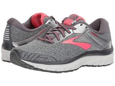 4a13a0ab687 Brooks Adrenaline GTS 18 (Ebony Silver Pink) Women s Running Shoes. With