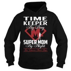 Time Keeper Super Mom Job Title TShirt