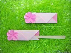 桜の箸袋おりがみ - 創作折り紙の折り方・・・